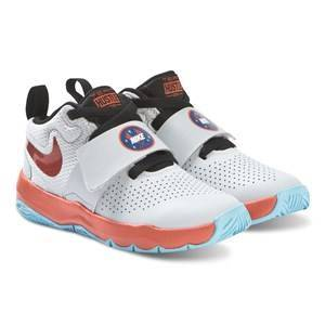 NIKE White Nike Team Hustle D8 Sneakers 30 (UK 12)