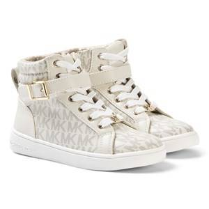 Michael Kors Logo High Top Sneakers Beige 35 (UK 2.5)