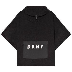 DKNY Black Branded Knit Poncho 6 years
