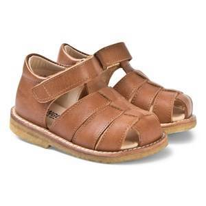 Angulus Tan Closed Toe Fisherman Sandals 23 (UK 6)
