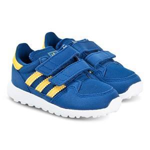 adidas Originals Royal Blue and Yellow Forest Grove 2V Trainers 21 (UK 5)