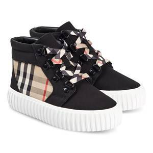 Burberry Vintage Check High-Top Sneakers Archive Beige and Black 33 (UK 2.5)