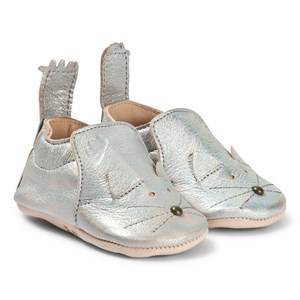 Easy Peasy Blumoo Mouse Crib Shoes Silver 6-12 months