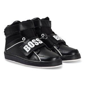 BOSS Branded Hi Top Trainers Black 41 (UK 8)