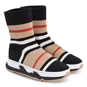 Burberry Hi-Top Sock Sko Archive Beige/Svart 27 (UK 9)