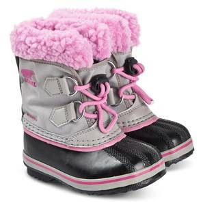 Sorel Childrens Yoot Pac Snow Boots Chrome/Grey Orchid 29 (UK 11)
