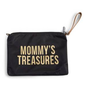 Childhome Mommy Bag Clutch, Sort/Gull