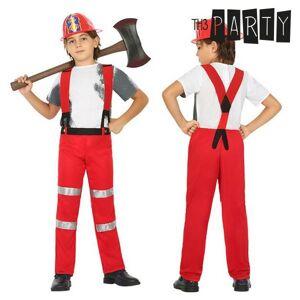 BigBuy Carnival Maskeraddräkt för barn Brandman (2 Pcs) - 10-12 år