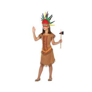 BigBuy Carnival Maskeraddräkt för barn Indiska Brun (1 Pc) - 10-12 år