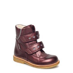 ANGULUS Boots - Flat - With Velcro Vinterkängor Med Kardborreband Lila ANGULUS