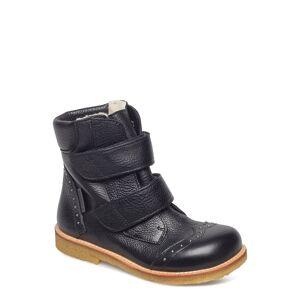 ANGULUS Boots - Flat - With Velcro Vinterkängor Med Kardborreband Svart ANGULUS