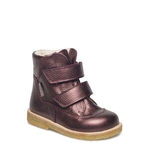 ANGULUS Boots - Flat - With Velcro Känga Stövel Lila ANGULUS