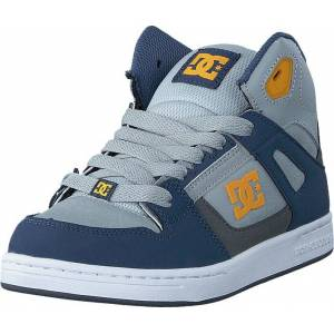 DC Shoes Rebound SE/Glow in the dark Blue/Grey/Blue, Skor, Sneakers och Träningsskor, Höga sneakers, Blå, Barn, 29