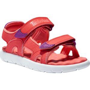 Timberland Kids' Perkins Row 2-Strap Sandal Röd