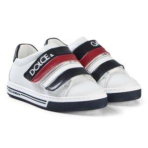 Dolce & Gabbana White, Navy and Red Logo Velcro Sneakers Barnskor 37 (UK 4)