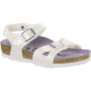 Birkenstock Rio Kids Sandal, Metallic Stones White 26