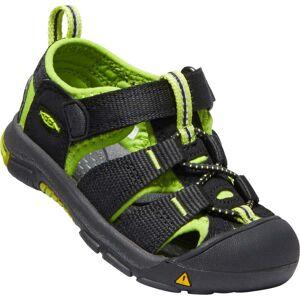 Keen Newport H2 Toddlers Sandal, Black/Lime Green 20-21