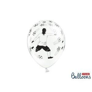 Shop4kids.no Fotballspiller Pastel Hvit Ballonger - 30cm - 6 stk