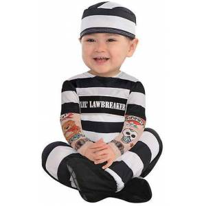 Amscan Prisoner Costume (Babies and Children , Costumes) 0-6 Meses