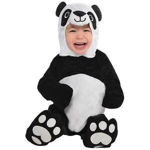 Amscan Panda Bear drakt (babyer og barn, kostymer) 0-6 Meses