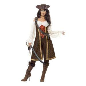 Smiffys De Syv Hav Pirat Dame Karnevalsdrakt - Small