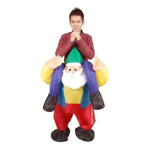 Oppblåsbar Ridende Dverg Karnevalskostyme - One size
