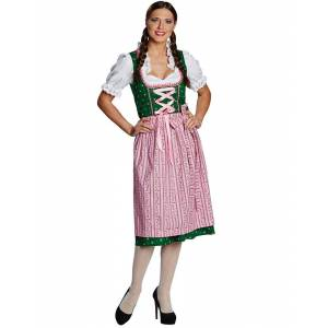 Grønt og Rosa Dirndl Oktoberfestkostyme