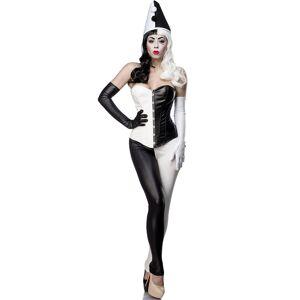 Svart og Hvitt Komplett Harlequin Inspirert Kostyme