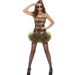 Militærdama med Disiplin - Kostyme