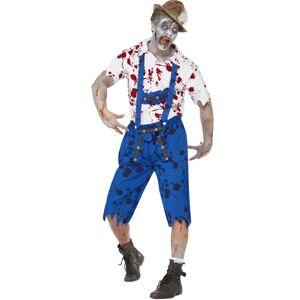 Ølfestivalens Zombie Mann - Oktoberfest Kostyme