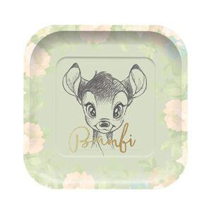 4 stk Firkantet Papptallerkener 24 cm - Bambi