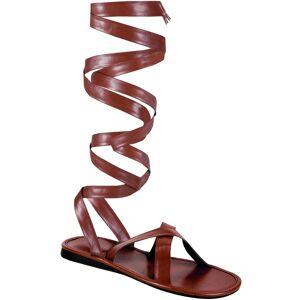 Brune Sandaler med Lange Remmer