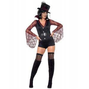 Vampyr Kostyme til Dame med Hatt