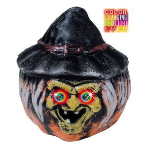 Lysende Halloween Hekse Gresskar 22 cm - Dekorasjon