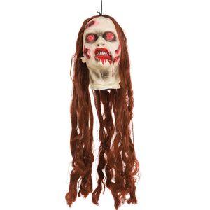 Beheaded Redhead Zombie - Hengende Dekorasjon med Lys og Lyd 25 cm