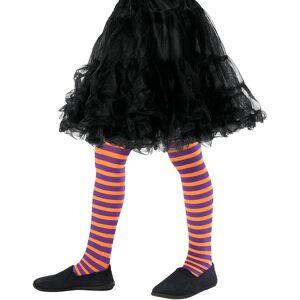 Orange og Lilla Stripete Strømpebukse til Barn