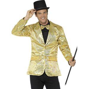 Gullfarget Glitrende Kostymejakke til Mann