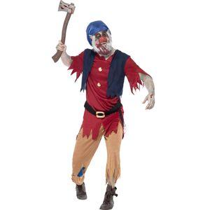 Zombie Dverg - Kostyme med Maske