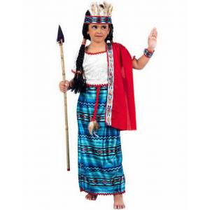 Indianerkostyme Jente - Luksus Barnekostyme