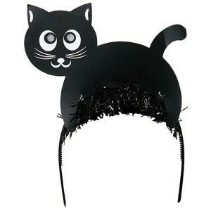 Hårbøyle med Svart Katt og Lysende Øyne