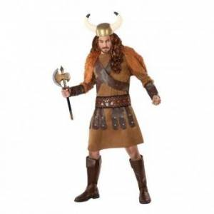 Viking Vuxen kostym 113985 Viking manlig brun (3 st) - Storlek: XL