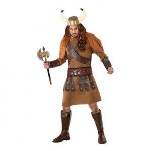 Viking Vuxen kostym 113985 Viking manlig brun (3 st) - Storlek: XXL