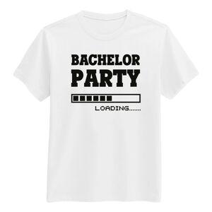 Netshirt.se Bachelor Vit T-shirt - Small