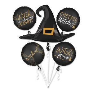 Amscan Ballongbukett Häxa Halloween