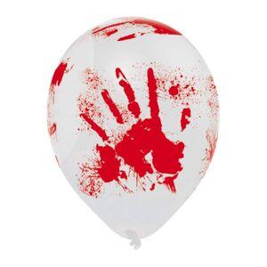 Amscan Ballonger med Blodiga Händer - 6-pack