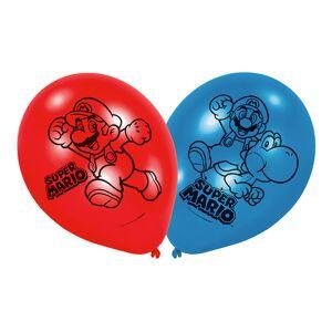 Amscan Ballonger Super Mario Blå/Röd - 6-pack