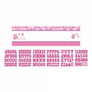 Amscan Banderoll med Bokstäver Baby Girl