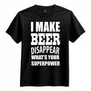 Netshirt.se I Make Beer Disappear T-Shirt - Small