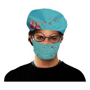 Bristol Novelty Ltd Kirurgmössa med Munskydd - One size