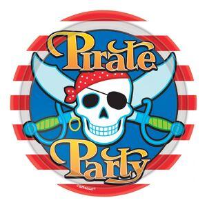 Amscan Papperstallrikar Pirate Party - 8-pack